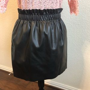 H&M very cute black leather skirt size 6.